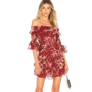 Misa Los Angeles Rima Off Shoulder Dress